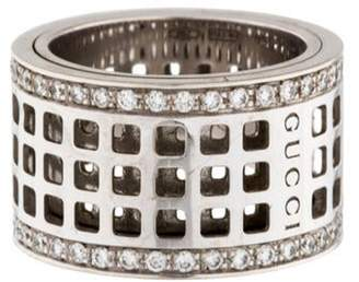 Gucci 18K Diamond Spinner Ring white 18K Diamond Spinner Ring