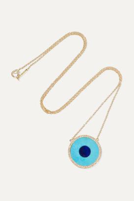 Jennifer Meyer Evil Eye 18-karat Gold Multi-stone Necklace
