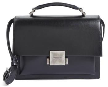 Saint Laurent Medium Bellechasse School Leather Shoulder Bag - Black