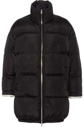 Prada feather nylon puffer jacket