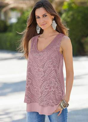 Together Sleeveless Layered Vest Top