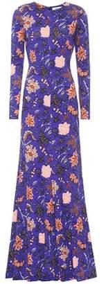 Diane von Furstenberg Floral-printed silk-jersey gown