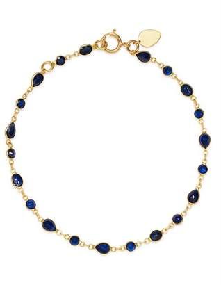 Meira T 14K Yellow Gold Sapphire Bezel Bracelet