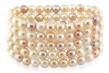 Ice.com 7-8mm Multi-Pink Freshwater Pearl Bracelet