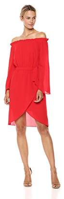 Ali & Jay Women's Get Me to The Greek Off The Shoulder Long Sleeve Short Dress