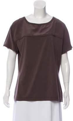 St. John Knit Short Sleeve Tunic Grey Knit Short Sleeve Tunic