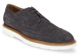 Tod's Brogue Detailed Suede Oxfords $675 thestylecure.com