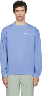 Eckhaus Latta Blue Logo Crewneck Sweatshirt