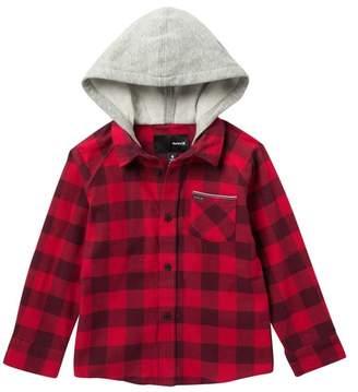 Hurley Long Sleeve Hooded Flannel Top (Little Boys)