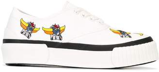 Julien David embroidered canvas sneakers