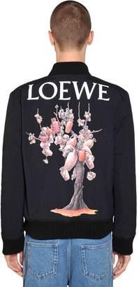 Loewe Printed Nylon Bomber Jacket