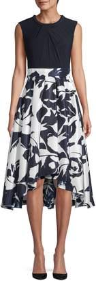 Ignite Evening Sleeveless High-Low Hem Fit--Flare Dress