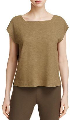 Eileen Fisher Petites Square Neck Crop Tee $88 thestylecure.com