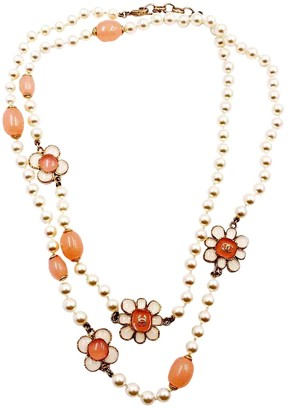 Chanel Pink Pearl Necklace