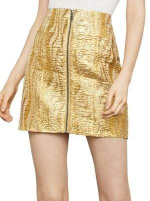 BCBGMAXAZRIA Metallic Jacquard Mini Skirt