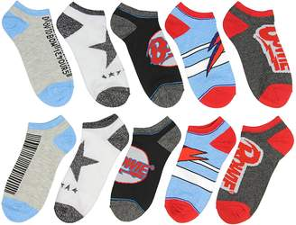 Bioworld David Bowie Unisex Album Inspired 5 Pair Mix and Match Ankle Socks