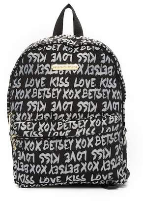 Betsey Johnson Jaquard Logo Backpack