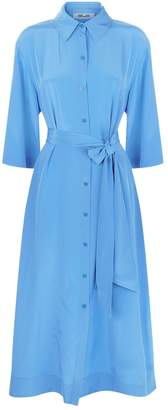 Diane von Furstenberg Silk Belted Shirt Dress