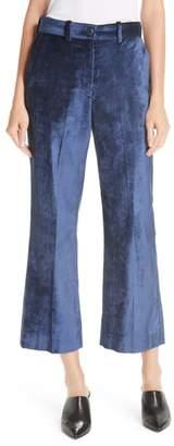 Rag & Bone Libby Velvet Crop Flare Pants