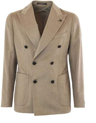 Tagliatore Beige Camel Double Breasted Jacket.