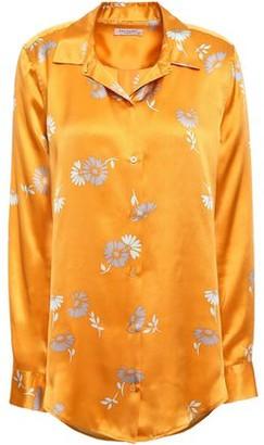 Equipment Essential Floral-print Silk-satin Shirt