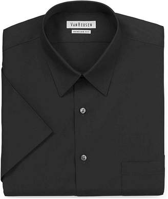 Van Heusen Short-Sleeve Poplin Dress Shirt