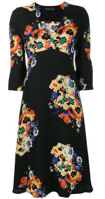 Etro V neck floral print midi dress