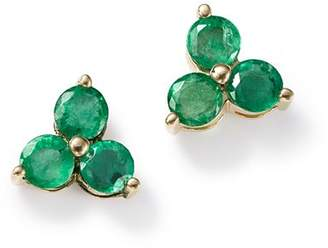 da08b38bf Bloomingdale's Emerald Three Stone Stud Earrings in 14K Yellow Gold - 100%  Exclusive