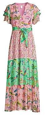 Banjanan Women's Jaya Contrast Print Maxi Dress