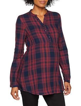Esprit Women's Ls y/d Check Maternity Blouse