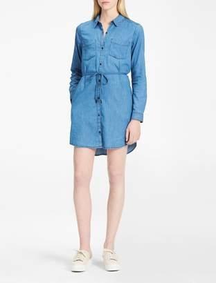 Calvin Klein denim belted shirtdress