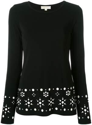 MICHAEL Michael Kors round neck embellished jumper
