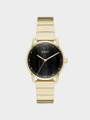 DKNY Greenpoint 36mm Gold-Link Stainless-Steel Watch