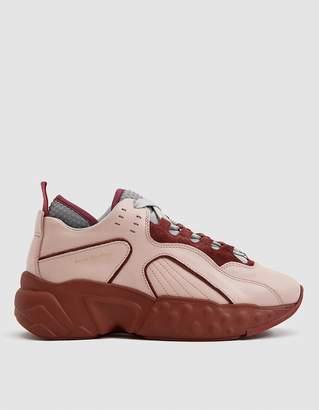 Acne Studios Manhattan Technical Sneaker in Pink/Burgundy