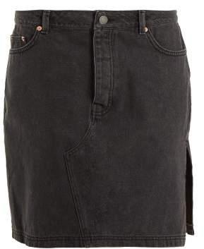Raey Side Split Denim Skirt - Womens - Black