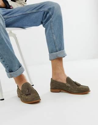 4f6c1687c6d Base London Tempus tassel loafer in grey suede