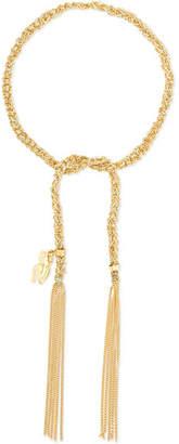 Carolina Bucci Strength Lucky 18-karat Gold And Silk Bracelet