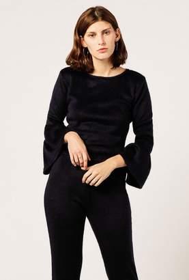Debbie Ruffle Sleeve Sweater