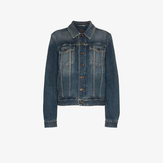 Saint Laurent denim jacket with rear logo print