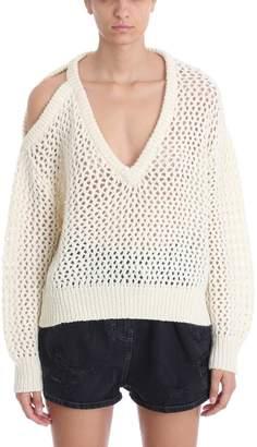 IRO Like Beige Wool Blend Open Knit Jumper