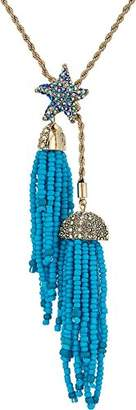 Betsey Johnson Women's Crabby Couture Starfish and Tassel Pendant Necklace