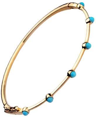 Lee Jones Collection Turquoise Stones Bangle Bracelet - Yellow Gold