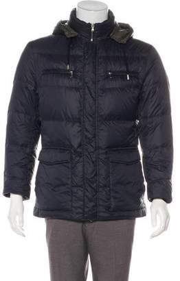 Brunello Cucinelli Quilted Hooded Utility Jacket
