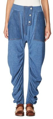 Stella McCartney Dropped-Inseam Denim Jogger Pants, Blue $985 thestylecure.com