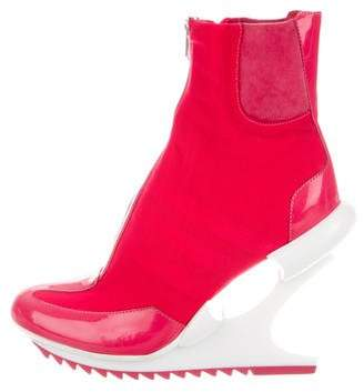Y-3 Mesh Platform Ankle Boots