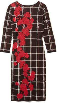 Vince Camuto Plaid-print Sweater Dress