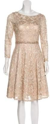 Aidan Mattox Metallic Lace Dress w/ Tags