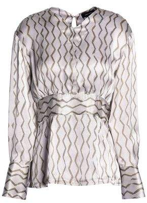 Isabel Marant Printed Hammered Silk-Satin Blouse