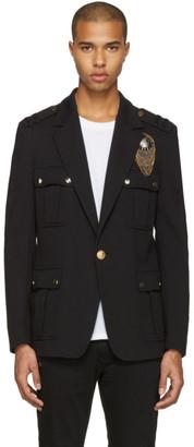 Balmain Black Embroidered Military Blazer $3,005 thestylecure.com