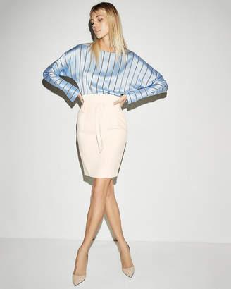 Express High Waisted Sash Tie Pencil Skirt